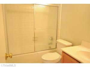 The main bathroom. Micah has removed the shower doors since this picture was taken.